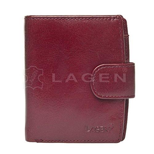 Lagen Dámská kožená peněženka Red 3807/EST