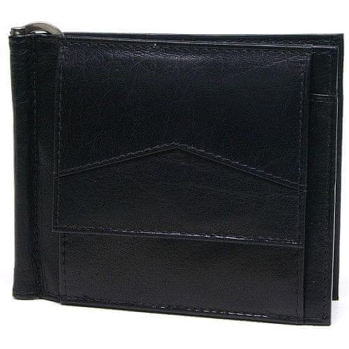 Lagen Pánská kožená peněženka - dolarovka W-2018 Black