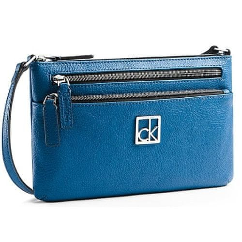 Calvin Klein Modrá crossbody kabelka Haley Triple Compartment Cross Blue