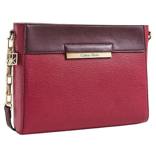 Calvin Klein Crossbody kabelka Valerie Top Zip Date Bag Red