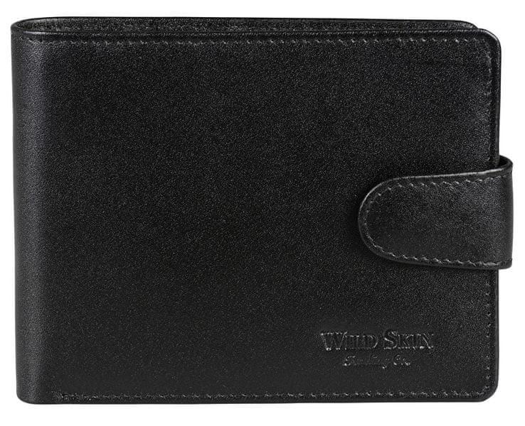 Wildskin Černá kožená peněženka 2671513