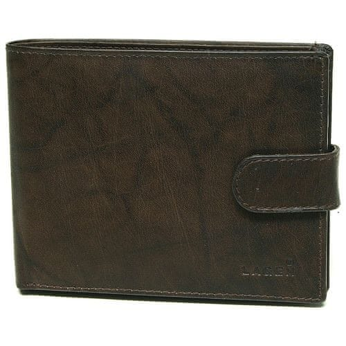 Lagen Pánská hnědá kožená peněženka Brown V-42