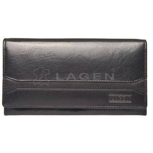 Lagen Dámská černá kožená peněženka Black W-2025/A