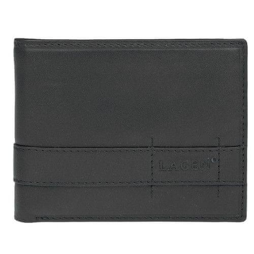 Lagen Pánská černá kožená peněženka Black 11224