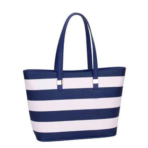 David Jones Modrobílá kabelka Blue 5096-2-1