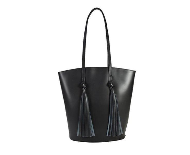 Černá business kožená kabelka 5832