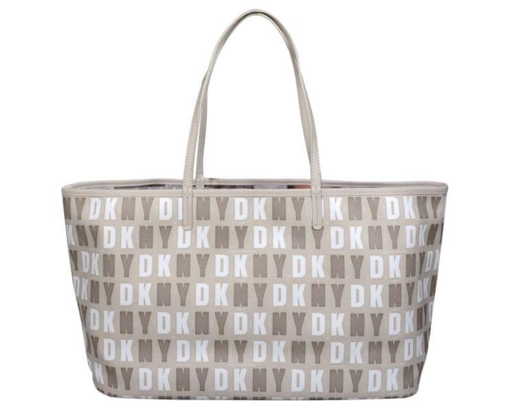 DKNY Béžová kabelka Top Zip Shopper