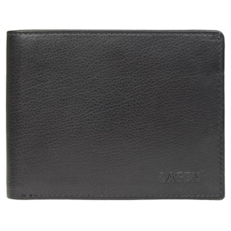 Lagen Pánská černá kožená peněženka Black W-113