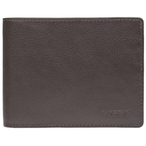 Lagen Pánská hnědá kožená peněženka Brown W-184