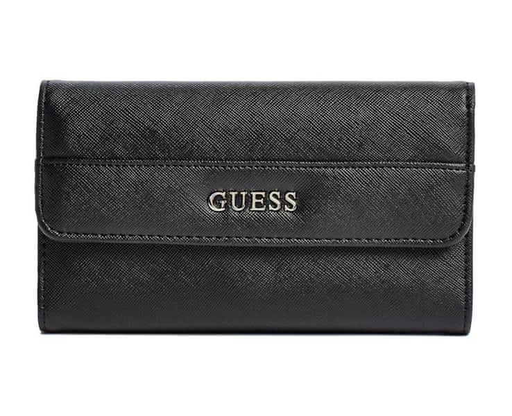 Guess Peněženka Alessandra Slim Wallet Black