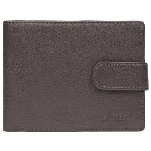 Lagen Pánská hnědá kožená peněženka Brown C-22L