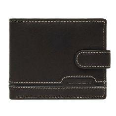 Lagen Pánská černá kožená peněženka Black 2004-3