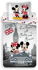 Jerry Fabrics Povlečení Mickey and Minnie in London 140x200 70x90