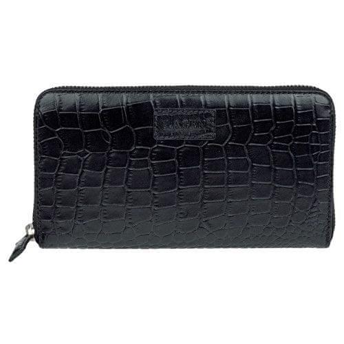 Lagen Dámská černá kožená peněženka Black 11227