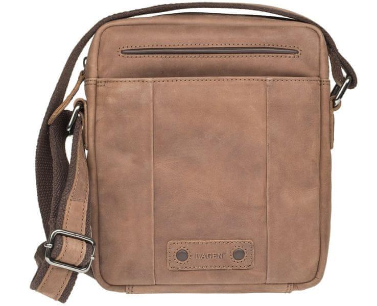 Lagen Kožená hnědá taška 1418 Brown