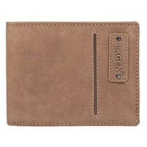 Lagen Pánská hnědá kožená peněženka ECO Brown 521