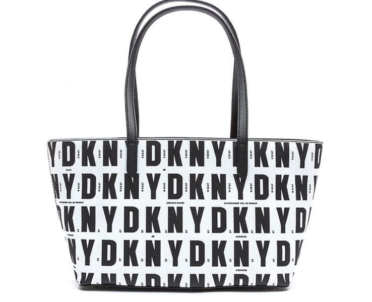 DKNY Černobílá kabelka Top Zip Shopper