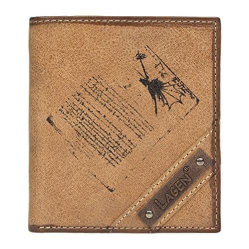 Lagen Pánská hnědá kožená peněženka Brown 216