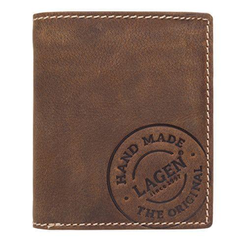 Lagen Pánská hnědá kožená peněženka Brown V-28/C