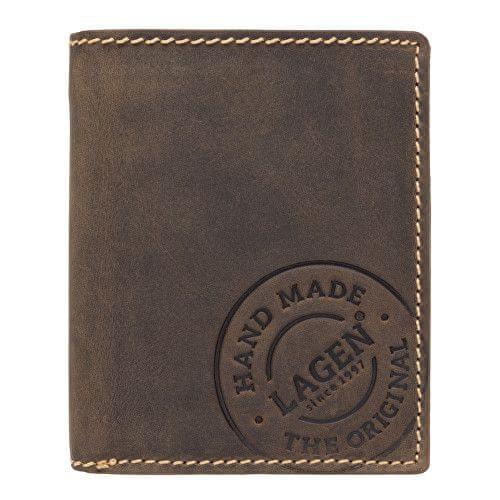 Lagen Pánská tmavě hnědá kožená peněženka Dark Brown V-28/H