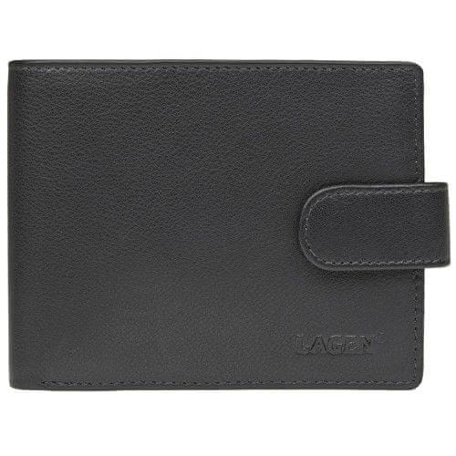 Lagen Pánská černá kožená peněženka Black C-22/L