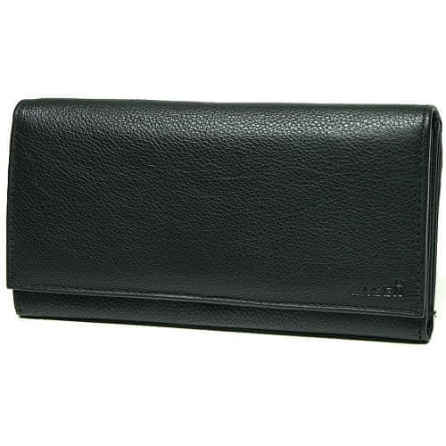 Lagen Dámská černá kožená peněženka Black V-62