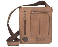 Lagen Kožená hnědá taška 1415 Brown