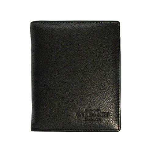 Wildskin Černá kožená peněženka AVM14C