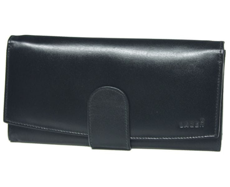 Lagen Dámská černá kožená peněženka Black 5152