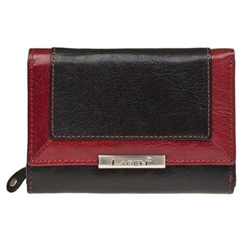 Lagen Dámská kožená černá peněženka B/R LN-1496