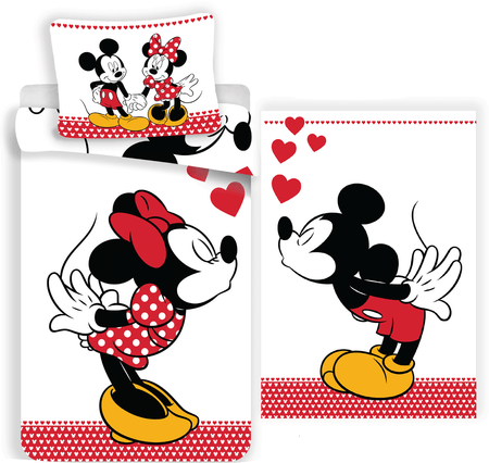 Jerry Fabrics posteljnina Mickey and Minnie in love