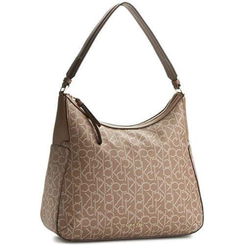Calvin Klein Kabelka Nina Mono Large Bucket Bag Beige