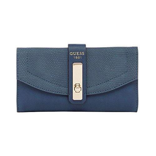 Guess Peněženka Kingsley Clutch Wallet blue