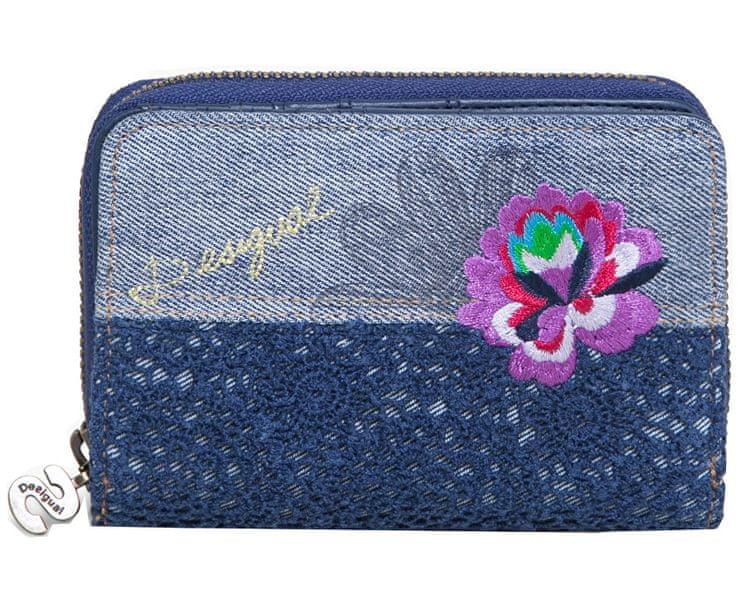 Desigual Peněženka Mone Magnetic Exotic Jeans 72Y9JH0 5001
