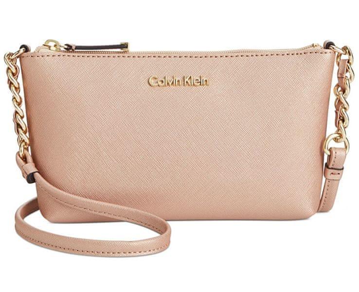 Calvin Klein Crossbody kabelka Saffiano Crossbody Rose