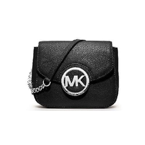 Michael Kors Kabelka Leather chain crossbody Black