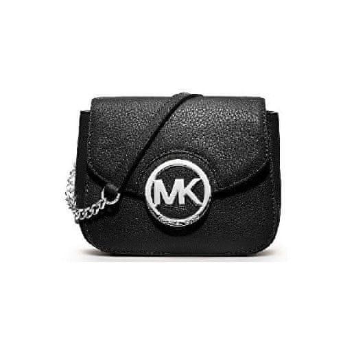 Michael Kors Kabelka Leather chain crossbody Black