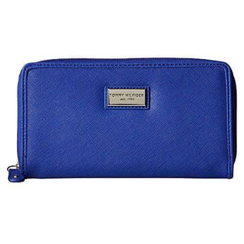 Tommy Hilfiger Modrá dámská peněženka Womens Core Wallets Zip Around Wallet Light Blue
