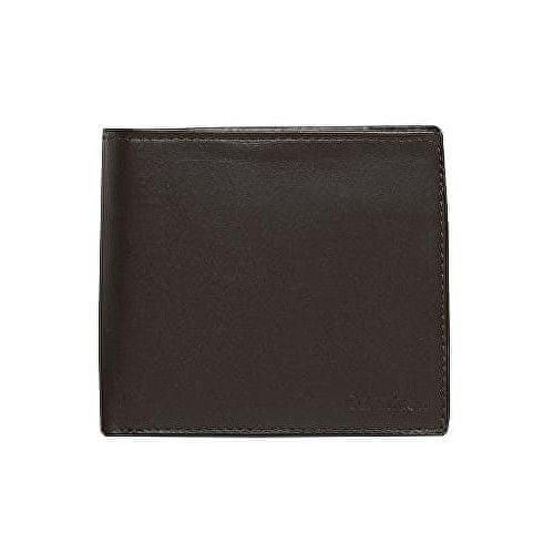 Calvin Klein Pánská černá peněženka Leather Coin Pocket Bifold Wallet