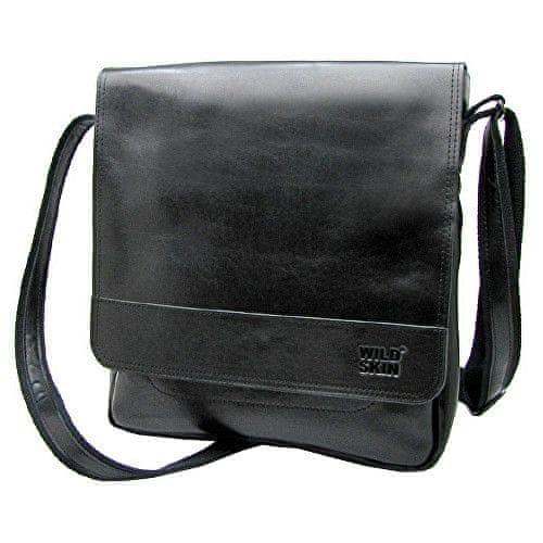 Wildskin Černá kožená taška WALKER omega 43606
