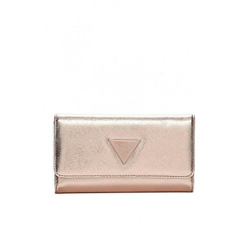 Guess Peněženka Abree Slim Wallet Pink-Gold