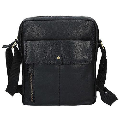 Lagen Kožená černá taška přes rameno LN-22021 Black