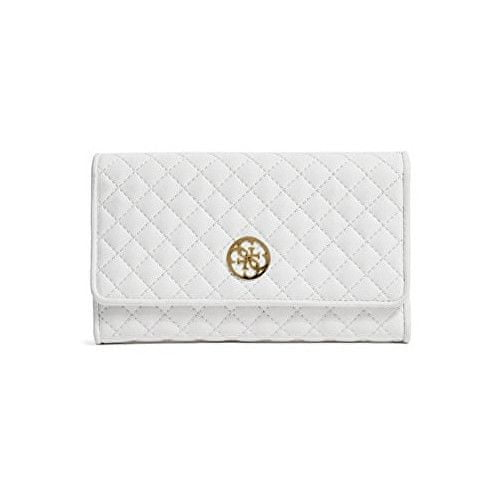 Guess Peněženka Classic Quilted Wallet and Pouch White