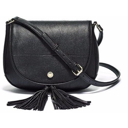 Calvin Klein Černá kabelka Calvin Klein Tassel Detail Saddle Bag