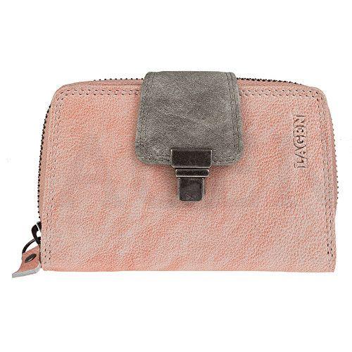 Lagen Dámská kožená peněženka 4495 Orange Taupe