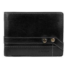 Lagen Kožená černá pánská peněženka 5103 W/T Black