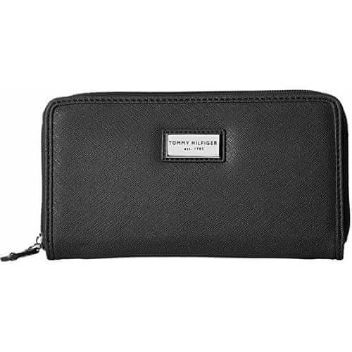 Tommy Hilfiger Černá dámská peněženka Womens Core Wallets Zip Around Wallet Black
