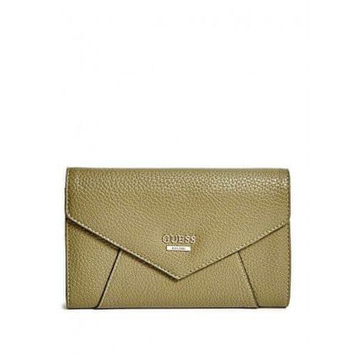 Guess Peněženka Gia Pebbled Wallet brown