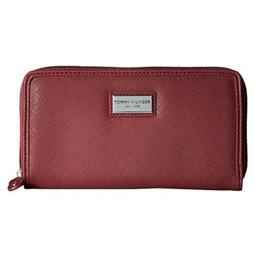 Tommy Hilfiger Červená dámská peněženka Womens Core Wallets Zip Around Wallet Red
