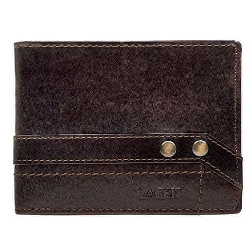 Lagen Kožená hnědá peněženka 5103 W/T Dark Brown